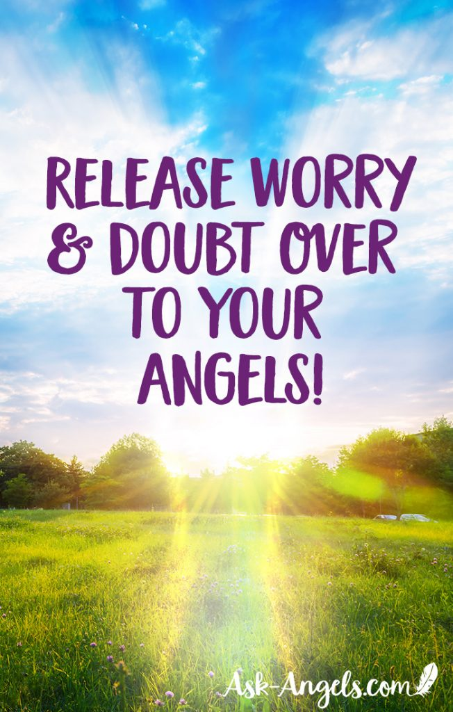 Release worry and doubt over to the angels and into the light to boost your angelic connection and raise your vibration!