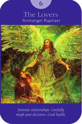 The Lovers Card - The Angel Tarot