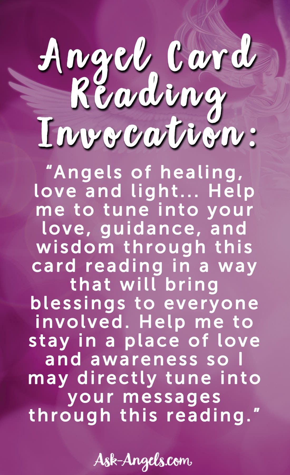 Angel Card Reading Invocation