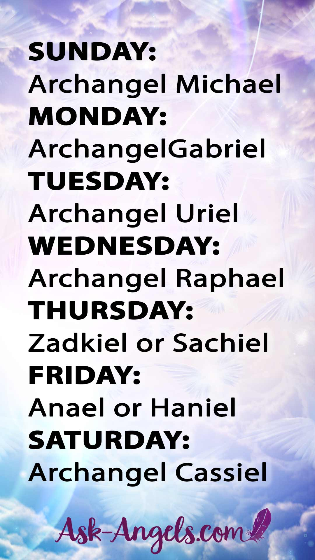 Seven Archangels of the Week!