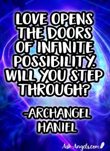Angel message from Archangel Haniel on Love and Infinite Possibility