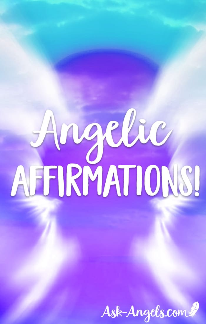 Angel Affirmations are a wonderful way to increase your connection with your angels, and positively improve your life. A positive affirmation starts with I AM and declares what you want as if it is already manifest. Learn the top Angelic Affirmations here now! #affirm #manifest #angels #spirituality #iam