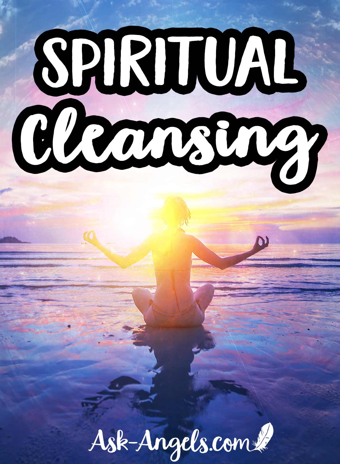 Spiritual cleansing is not only about cleansing dense energies, negativity, and blockages from your mind, body, and spirit... Spiritual cleansing is the process of breaking through old and outdated energy and releasing it into the light so you can elevate your personal vibration to ride the wave of light, positive change, and new energy into the future.