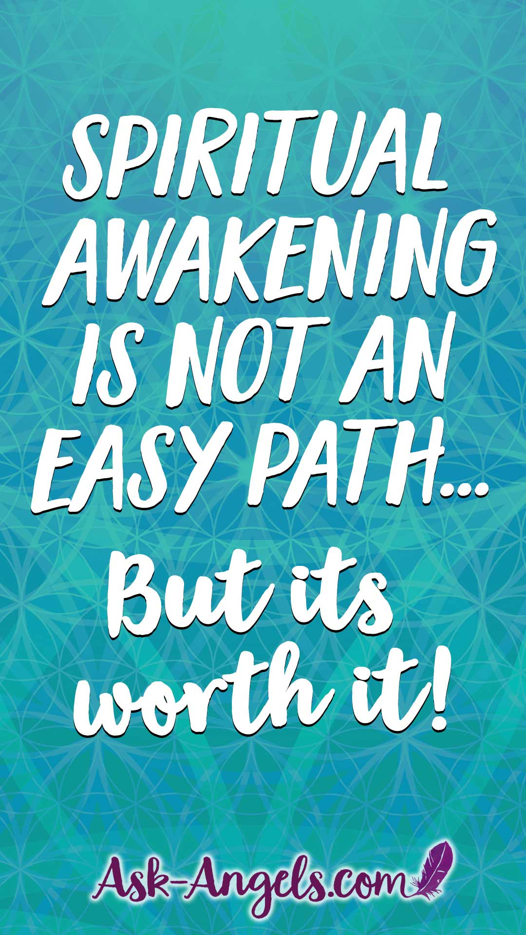Spiritual Awakening is not an easy path... But its worth it!