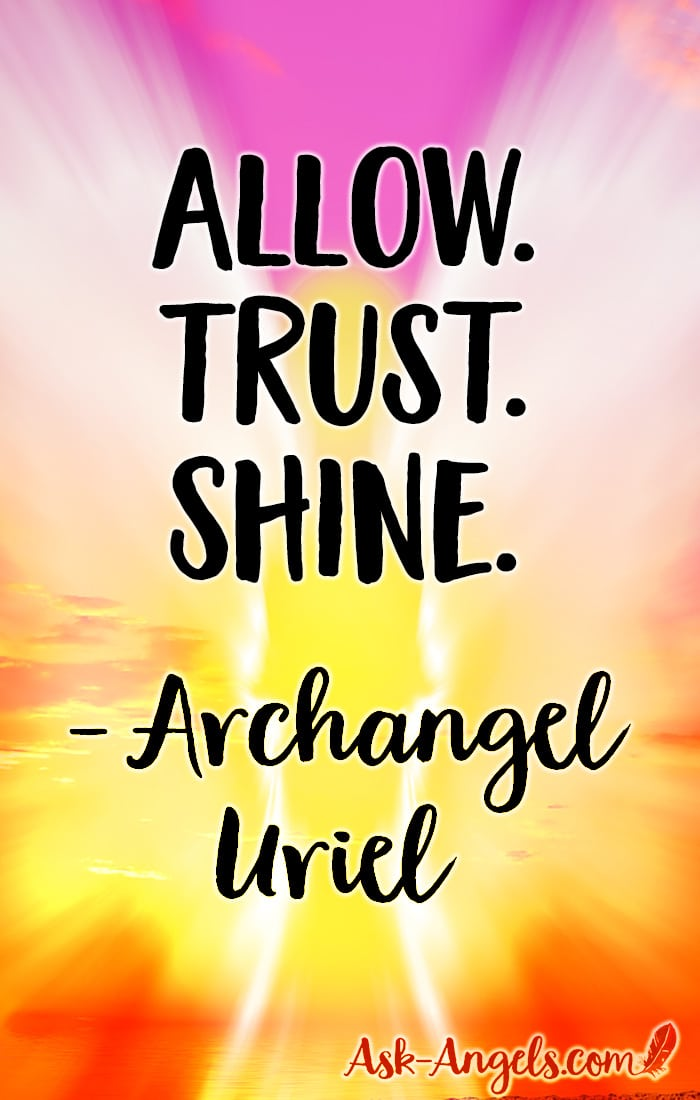 "A short channeled angel message of love and guidance from Archangel Uriel. Relax and listen or read to deepen your connection with the angelic realm and let new levels of light into your life... Allow. Trust. Shine and know how loved, supported and blessed you really are."" #angelmessage #archangeluriel"