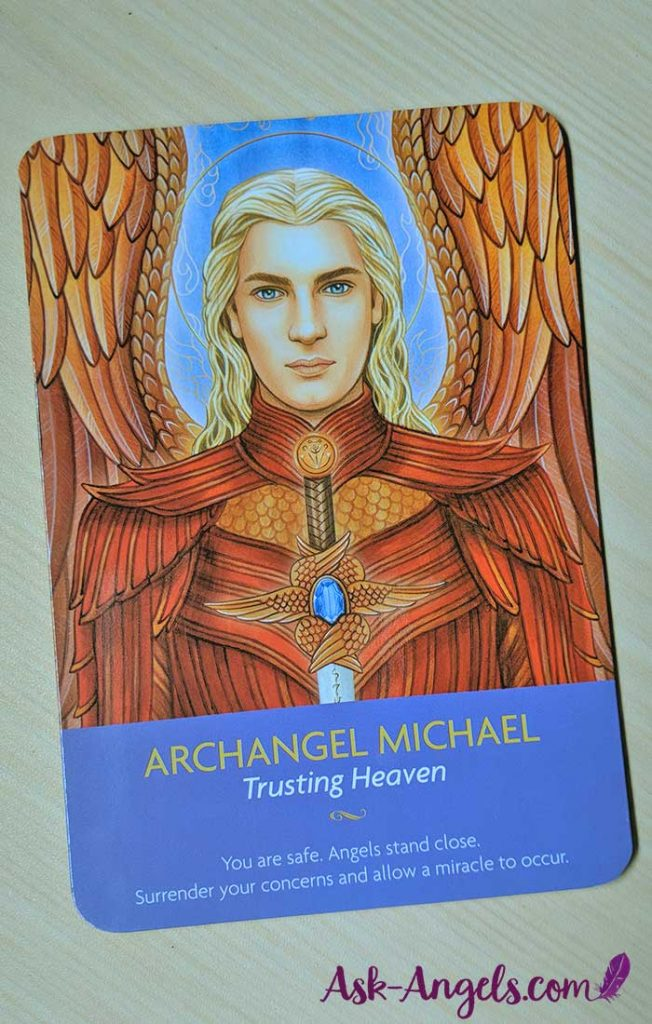 Keepers of the Light Oracle Cards- Archangel Michael Card