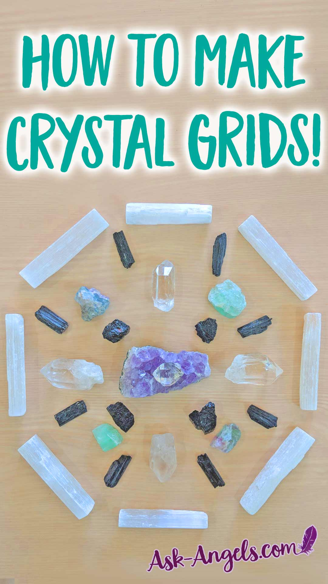 Learn how to make crystal grids to focus your manifestation ability and call forth blessings into your life experience. #crystalgrid