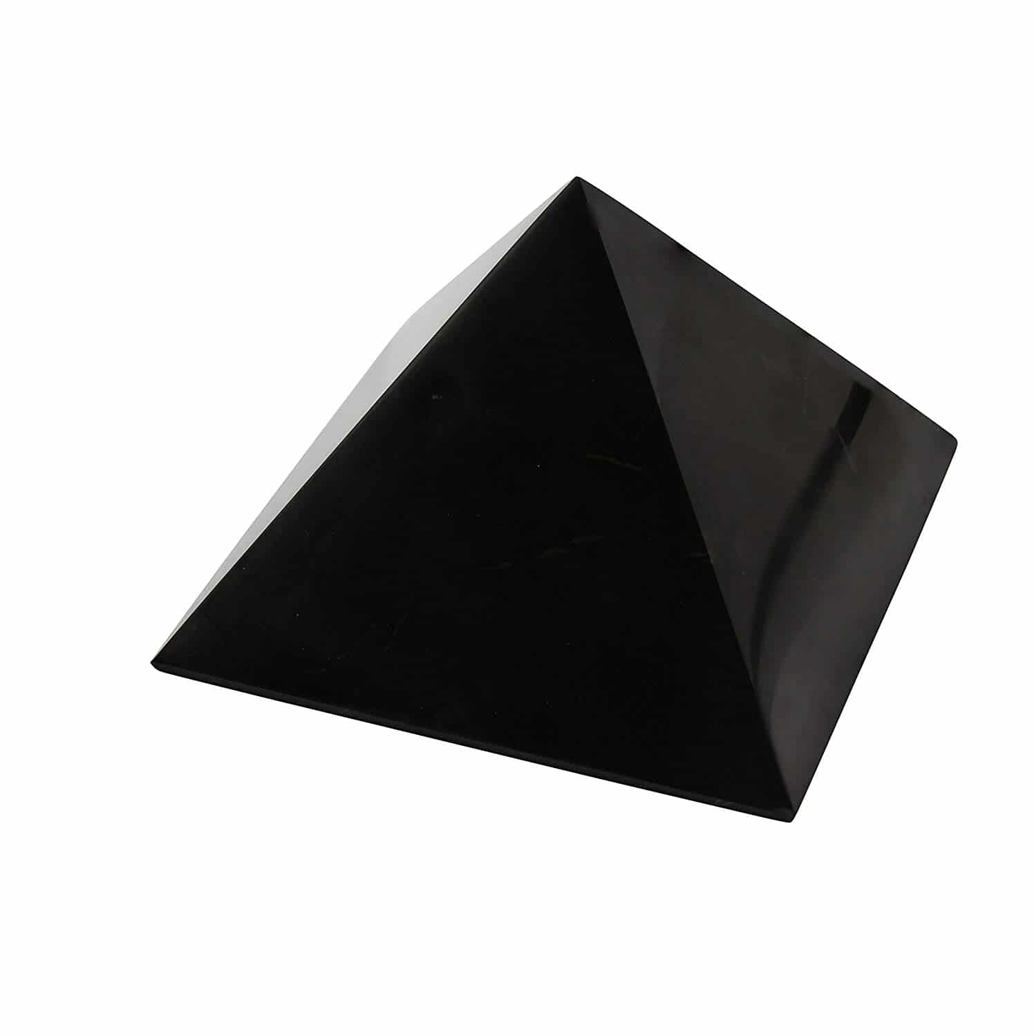 A Shungite Pyramid is a wonderufl crystal to place on your desk to clear EMF's and provide a wonderful energy.