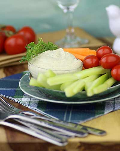 Veggie Platter with Raw Ranch Dressing