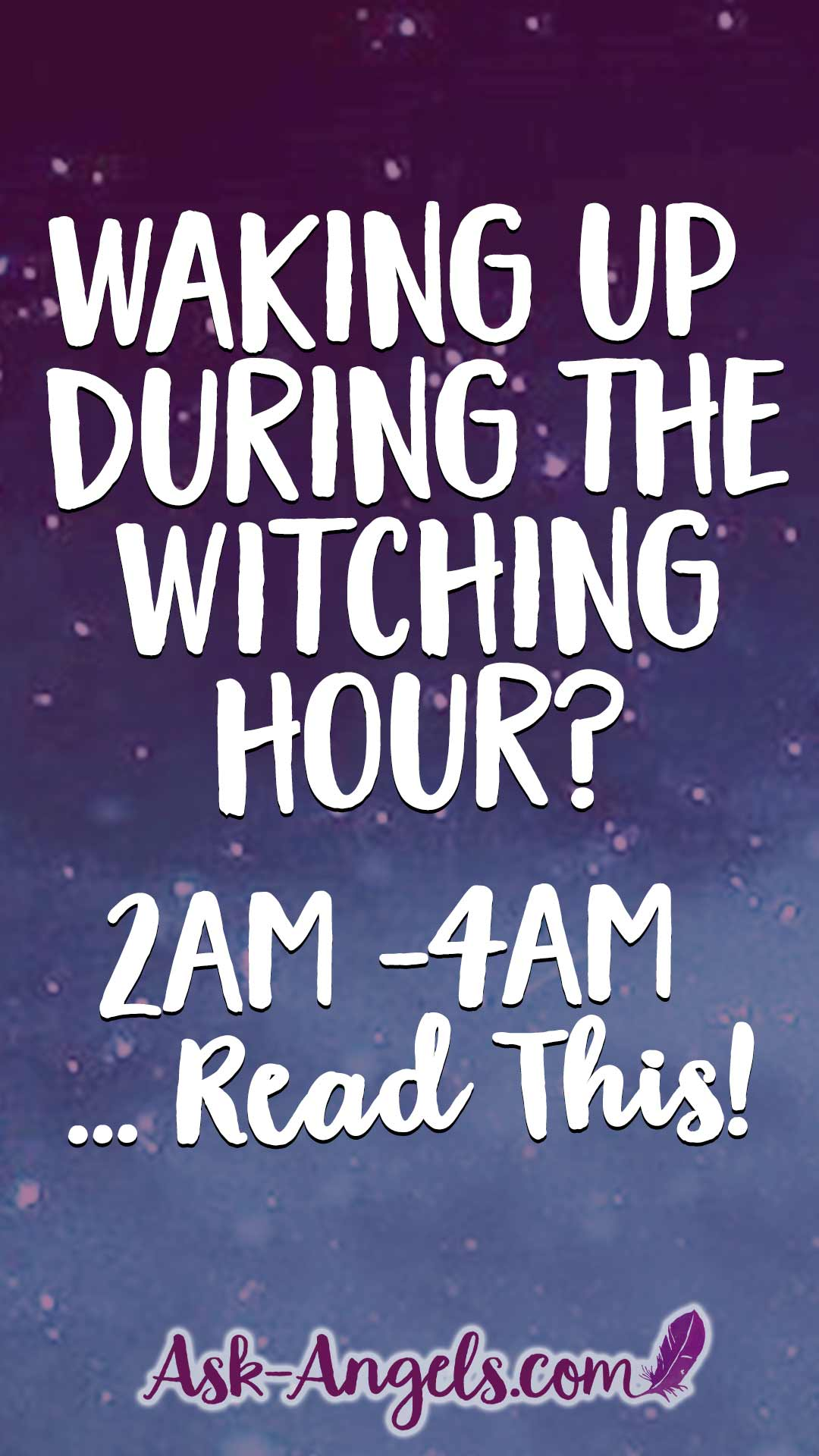 Waking Up During the Witching Hour? Read This!