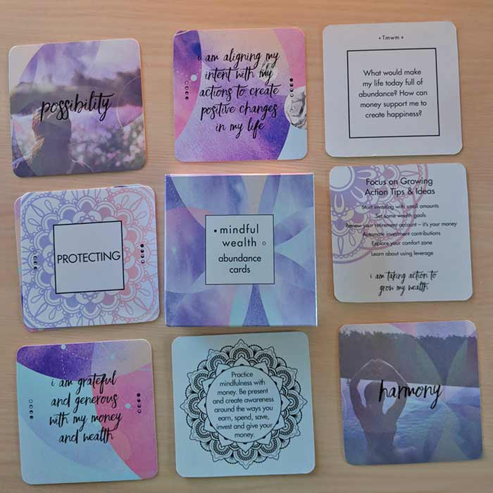 Mindful Wealth Affirmation Cards in the Goddess Provisions Box