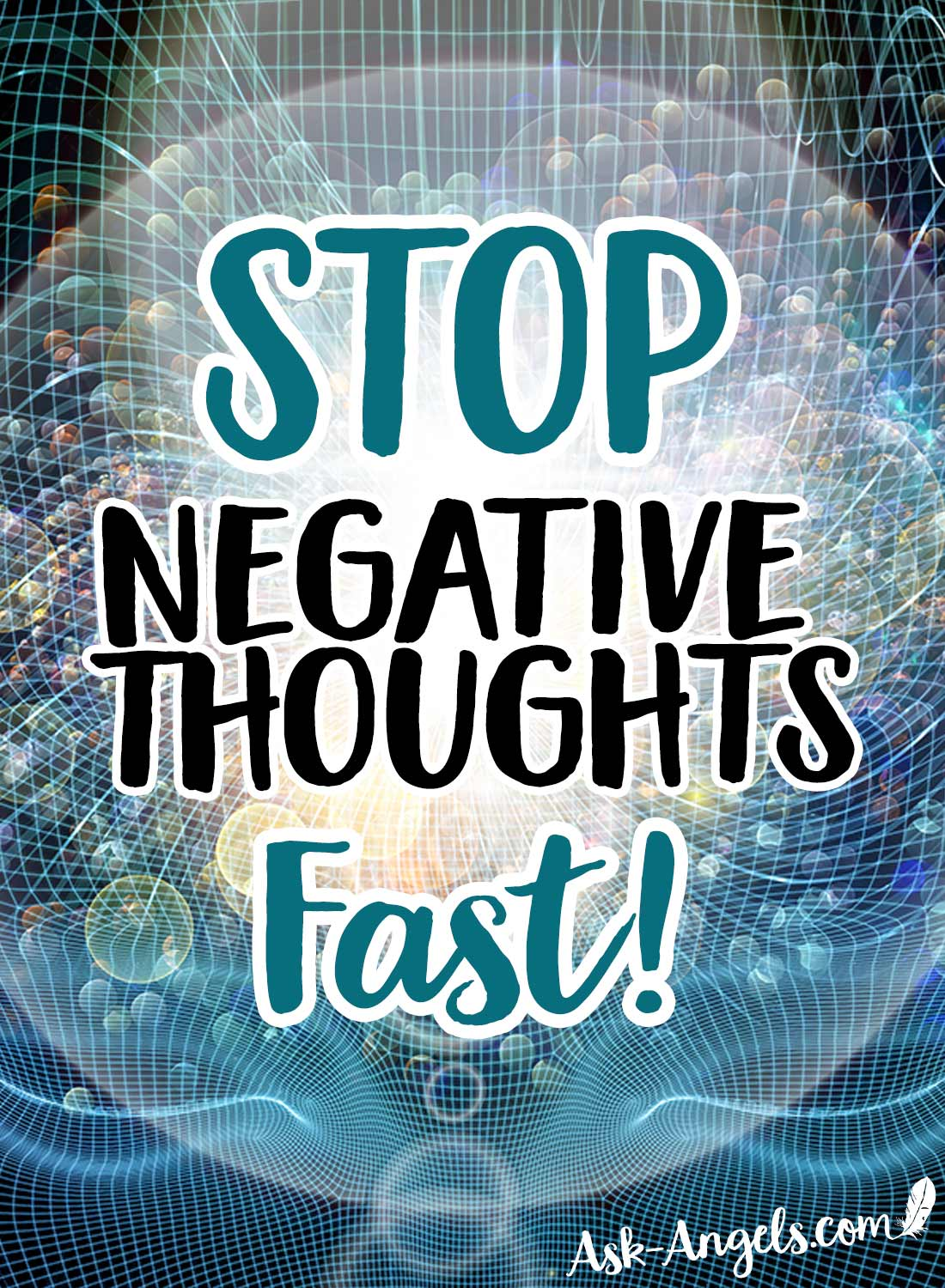 Negative thinking lowers your vibration and blocks you off from manifesting what you really want. So how do you STOP your Negative Thoughts in their tracks?
