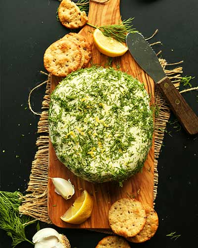 Garlic and Herb Vegan Cheese