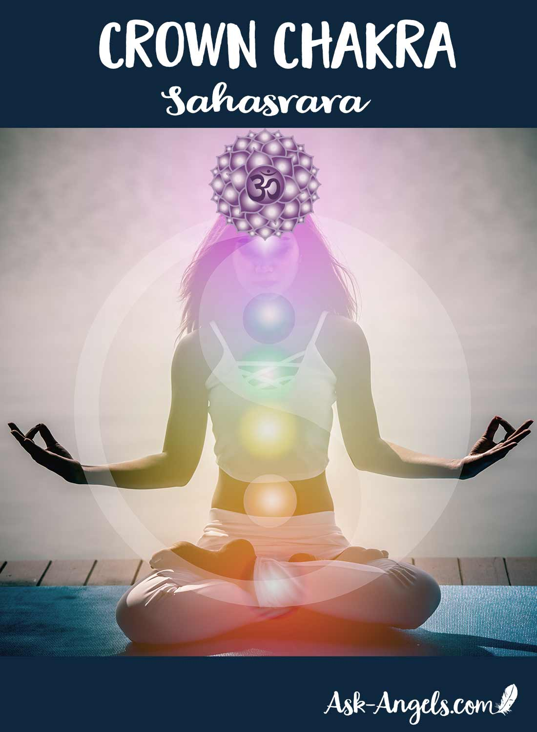 The seventh chakra, known as the crown chakra, Sahasrara, or the Thousand Petal Lotus is the energy center that allows you to connect to your higher self and universal consciousness. It connects you to the eternal part of yourself that goes beyond the ego.