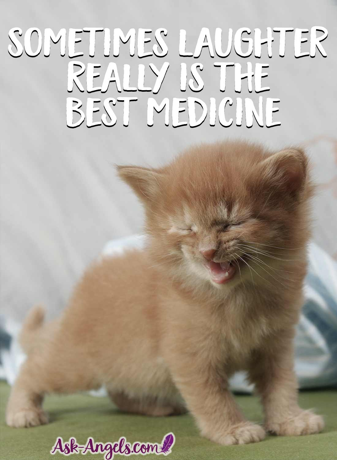Sometimes laughter really is the best medicine. To clear the mind and balance your energy flow.